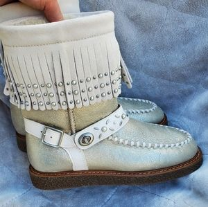 COACH Roccasin Suede Sherling Boots NWOT 8
